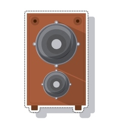 speaker sound isolated icon vector image