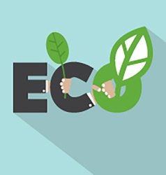 Ecology Concept Typography Design vector image vector image
