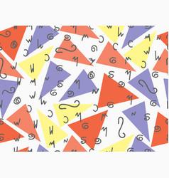 memphis seamless pattern fashion elements memphis vector image