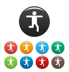 stick figure stickman icons set pictogram vector image