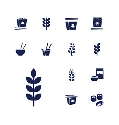 13 rice icons vector
