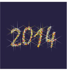 2014 New Year fireworks vector image