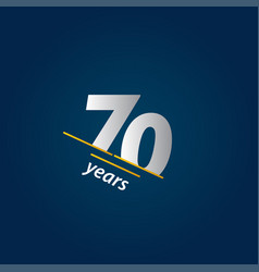 70 years anniversary celebration blue and white vector