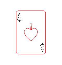 ace of spades french playing cards related icon vector image