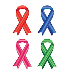 Awareness ribbons isolated on white background vector image