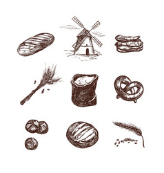bakery shop set 1 vector image