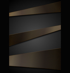 black abstract corporate background with bronze vector image