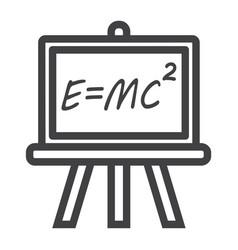 Blackboard line icon chalkboard and school vector