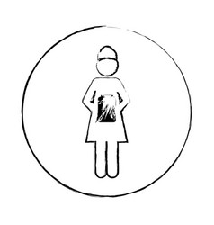 blurred circular frame silhouette pictogram of vector image