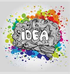 Brain idea doodle concept vector