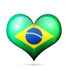 Brazil Heart flag icon vector image