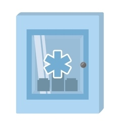 cabinet first aid kit medical cross symbol vector image