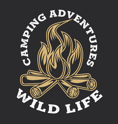 Camping firewood vintage adventure outdoor logo 5 vector