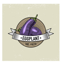 carrot vintage set labels emblems or logo vector image