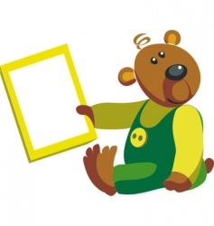 cartoon bear vector image