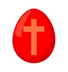 Cartoon red easter egg vector