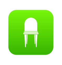 chair icon digital green vector image