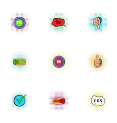 Choice icons set pop-art style vector image