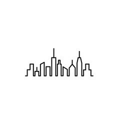 cityscape line icon in flat style for apps ui vector image