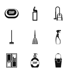 Cleansing icons set simple style vector