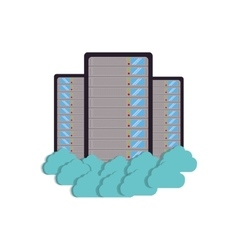 Cloud data center server storage technology vector