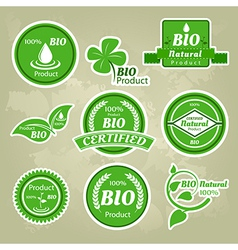 Collection of eco and bio labels badges and icons vector image