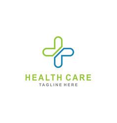 Cross plus for medical logo icon design vector