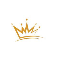 Crown logo template icon vector