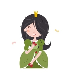 Cute little princess vector