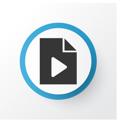 data icon symbol premium quality isolated video vector image