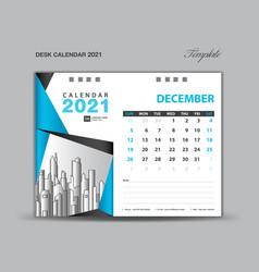 December 2021 template desk calender 2021 vector