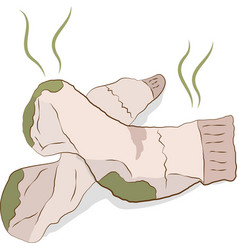 Dirty smelly socks vector