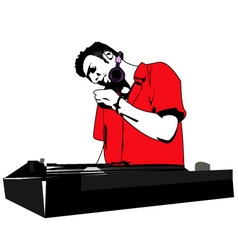 Dj music vector
