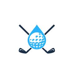 drop golf logo icon design vector image