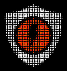 Electric guard halftone icon vector