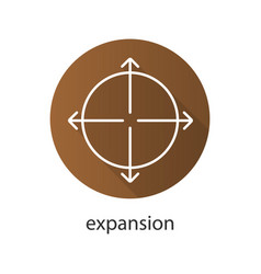 Expansion flat linear long shadow icon vector