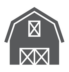 Farm barn glyph icon farming and agriculture vector