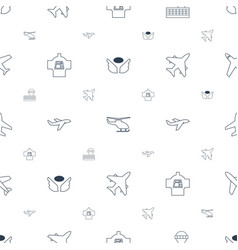Flight icons pattern seamless white background vector
