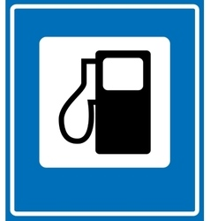 Fuel pump gas station icon vector
