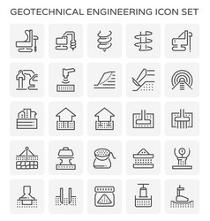 Geotechnical engineering icon vector