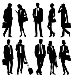 Global team silhouettes vector