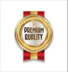 Golden retro premium quality badge 1 vector