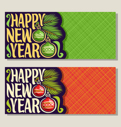 greeting cards for new year vector image
