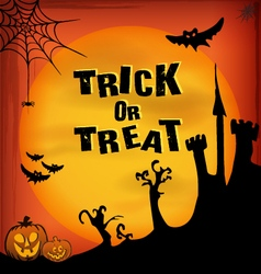 Halloween Invitations background with text vector image