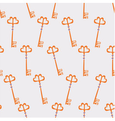 hand drawn old key seamless pattern-03 vector image