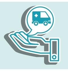Hand service medical medicine vector