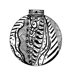 Handdrawn black and white ball vector