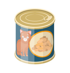 Isolated object can and food icon set can vector
