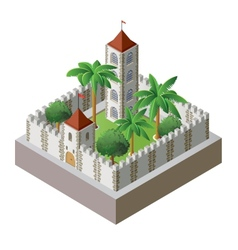Isometric fortress vector