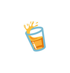 Juice cup mug drink logo vector